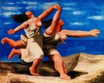 50-Dos mujeres corriendo por la playa (1922)