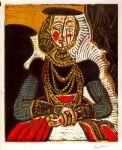 76-Mujer sentada (Según Cranach) (1958)
